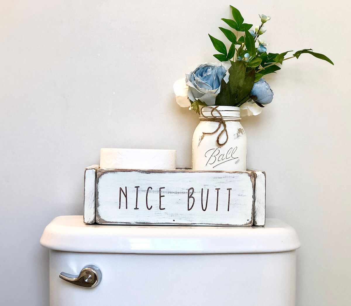Nice Butt Wood Bathroom Box