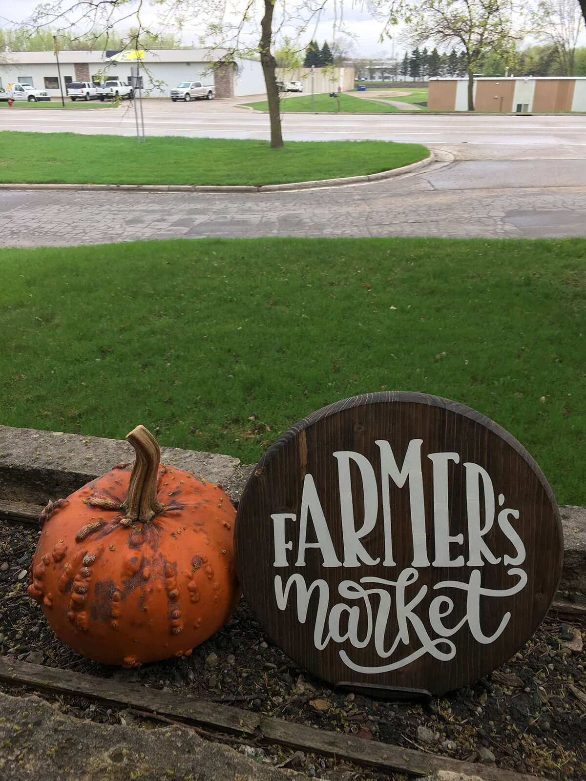 "Rustic Wooden ""Farmer's Market"" Sign"
