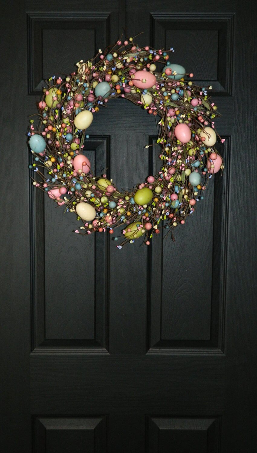 Colorful Egg and Berry Grapevine Wreath
