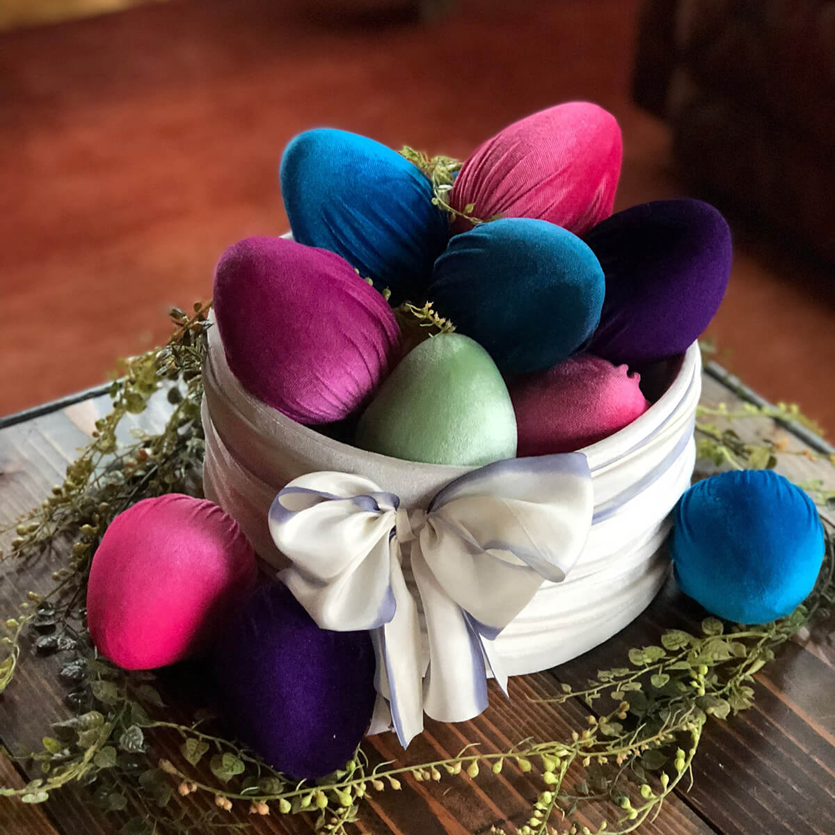 Luxurious and Vibrant Velvet Eggs Collection