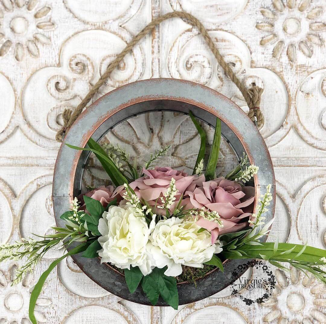 Perfect Little World Metal Window Wreath