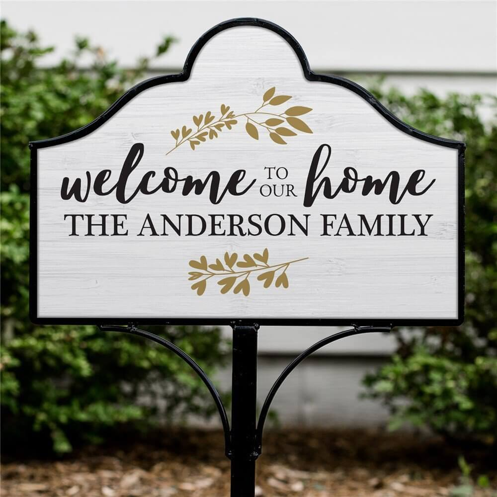 """Welcome to Our Home"" Magnetic Sign Set"