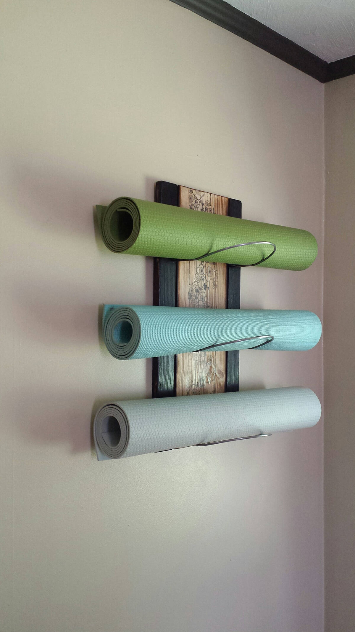 Wall-Mounted Yoga Mat Holder