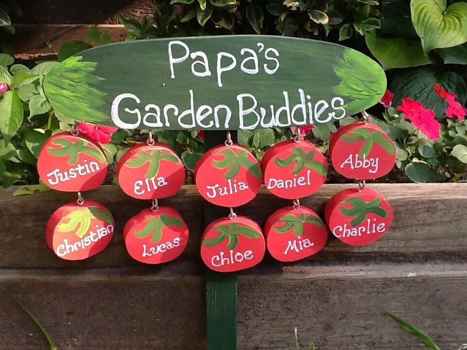 Personalized Grandpa Garden Sign