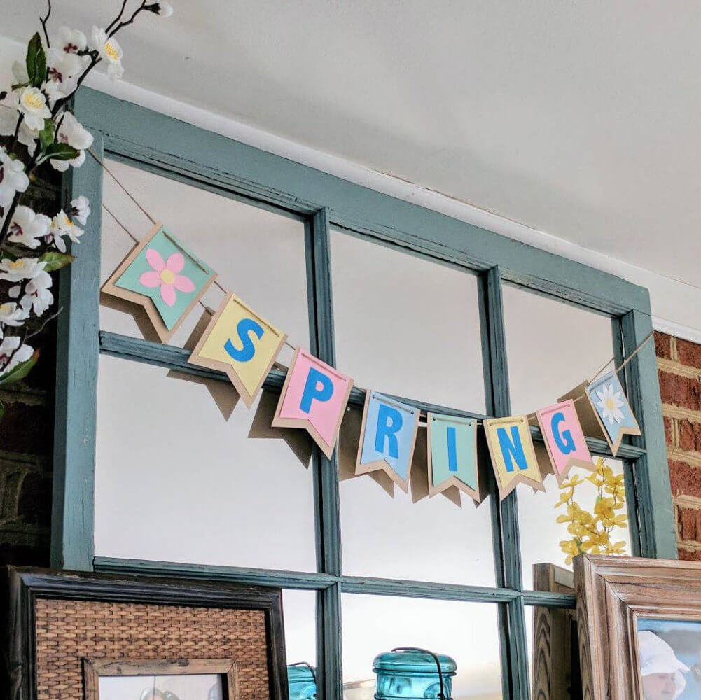 Joyful Cardstock and Burlap Spring Banner