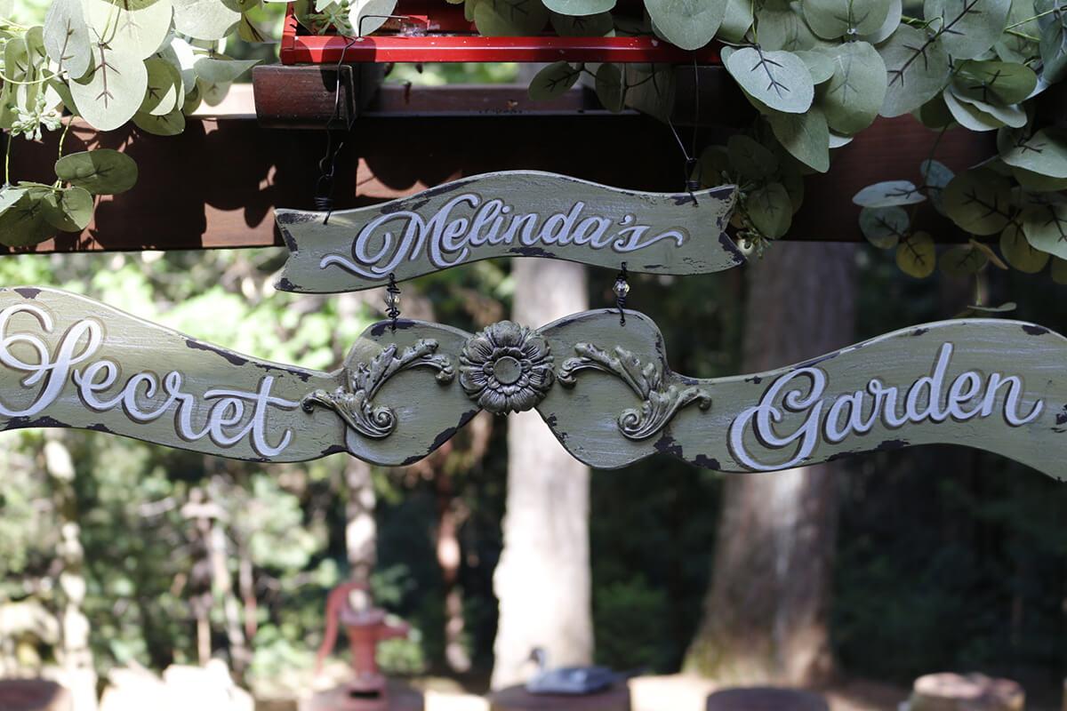 """Secret Garden"" Sign"