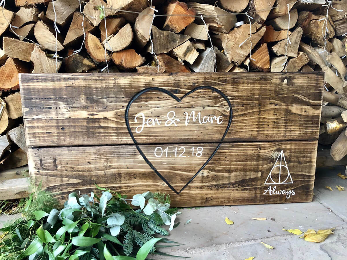 Perfect Wooden Wedding Sign