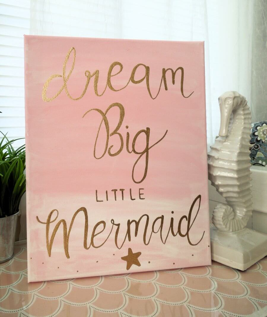 Dream Big Little Mermaid Canvas Art