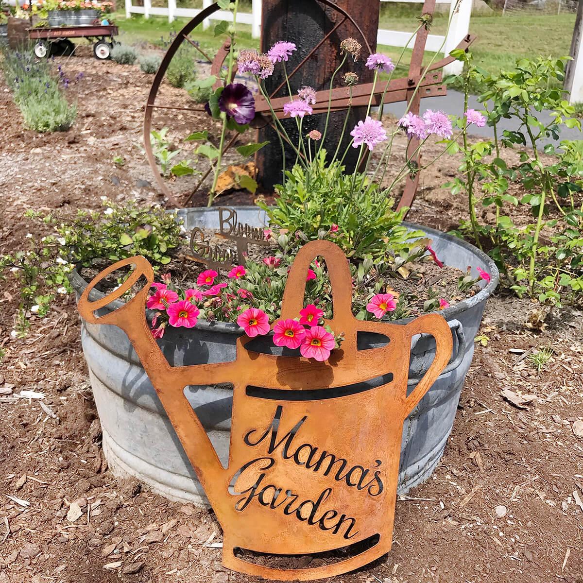 """Mama's Garden"" Metal Sign"