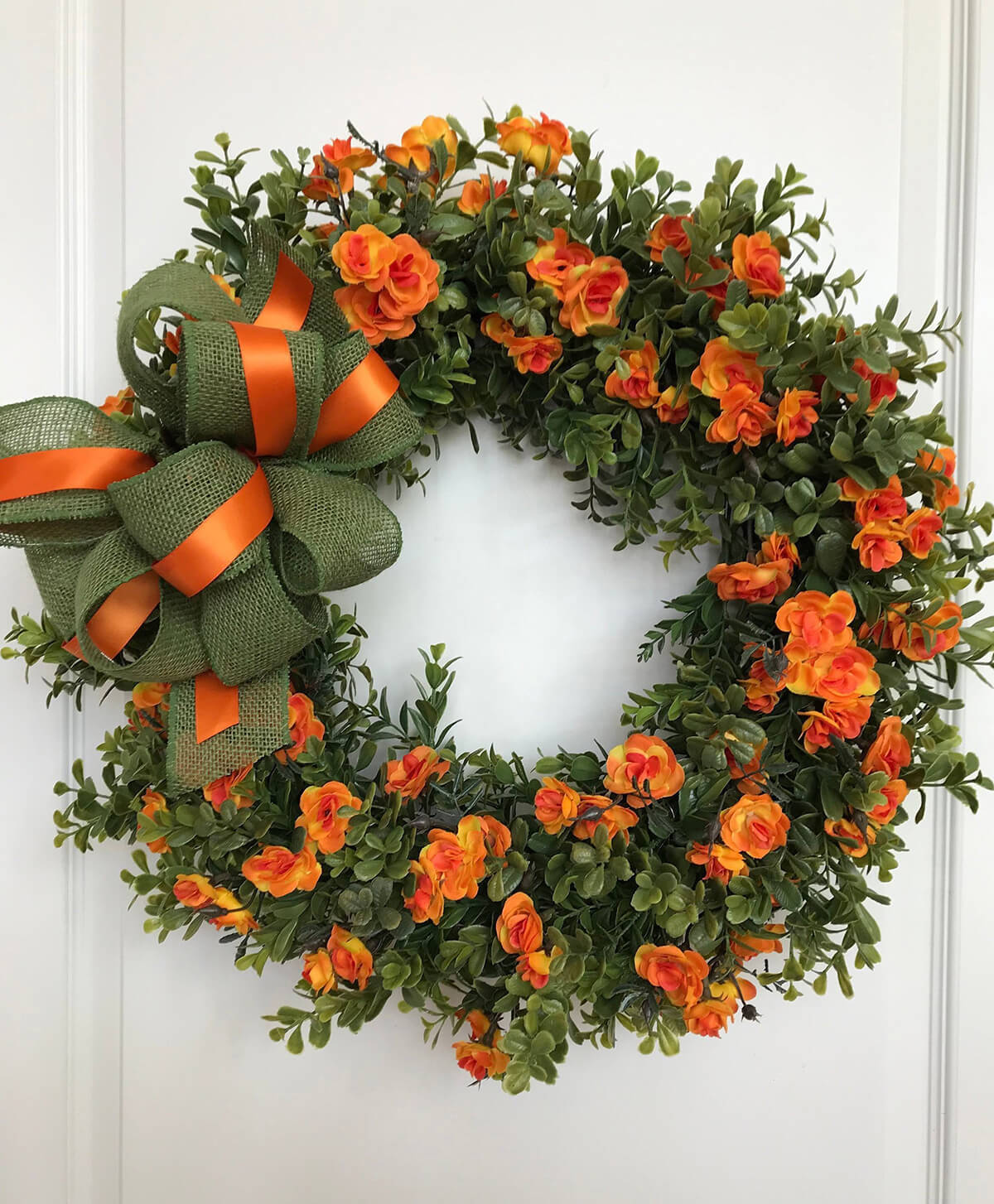 Spanish Rose Desert Succulent Wreath
