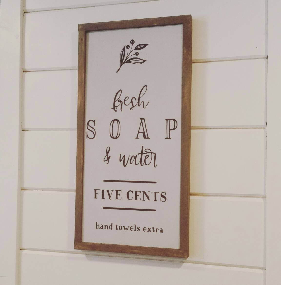 Farmhouse Bathroom Fresh Soap Sign
