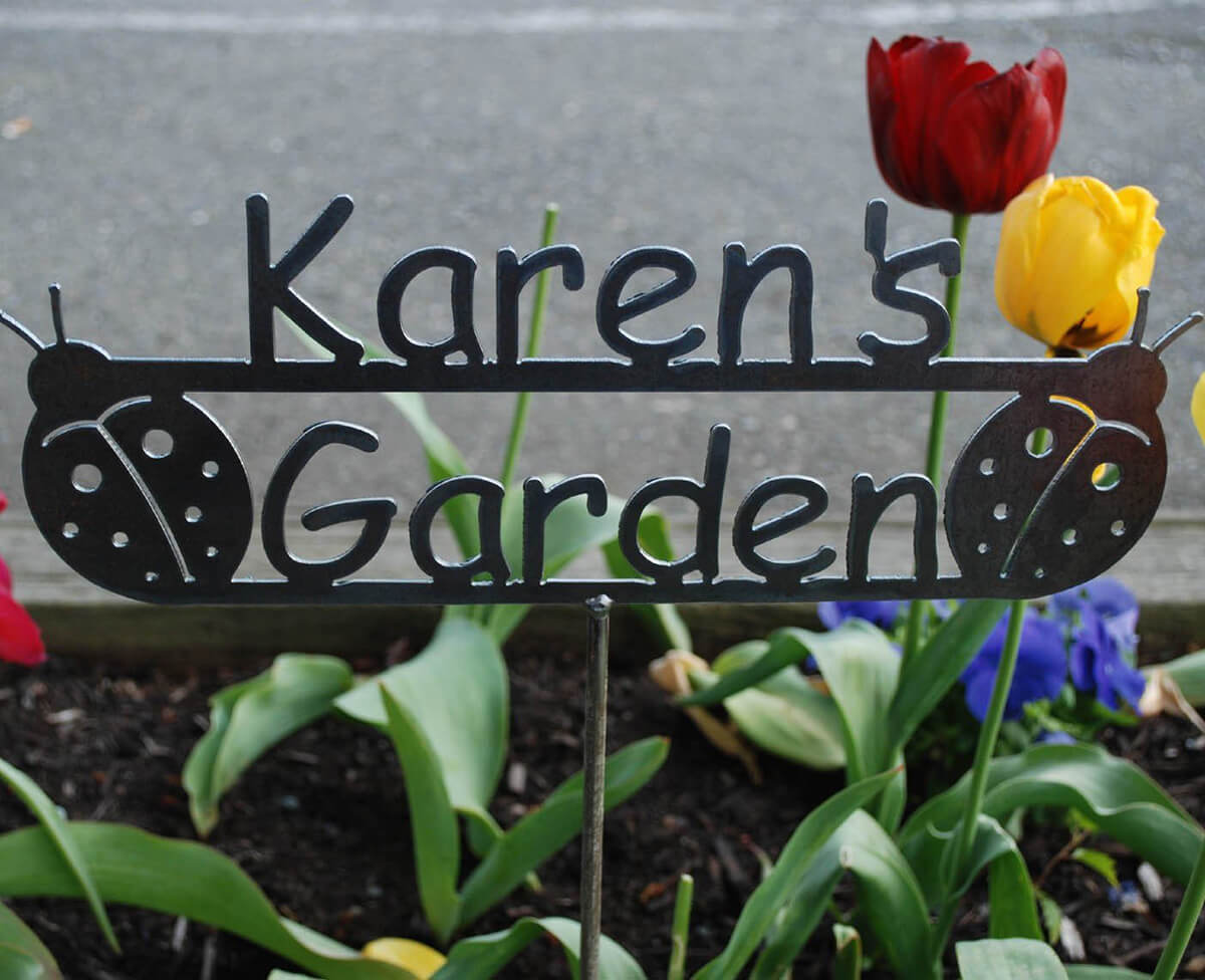 Custom Name Garden Sign