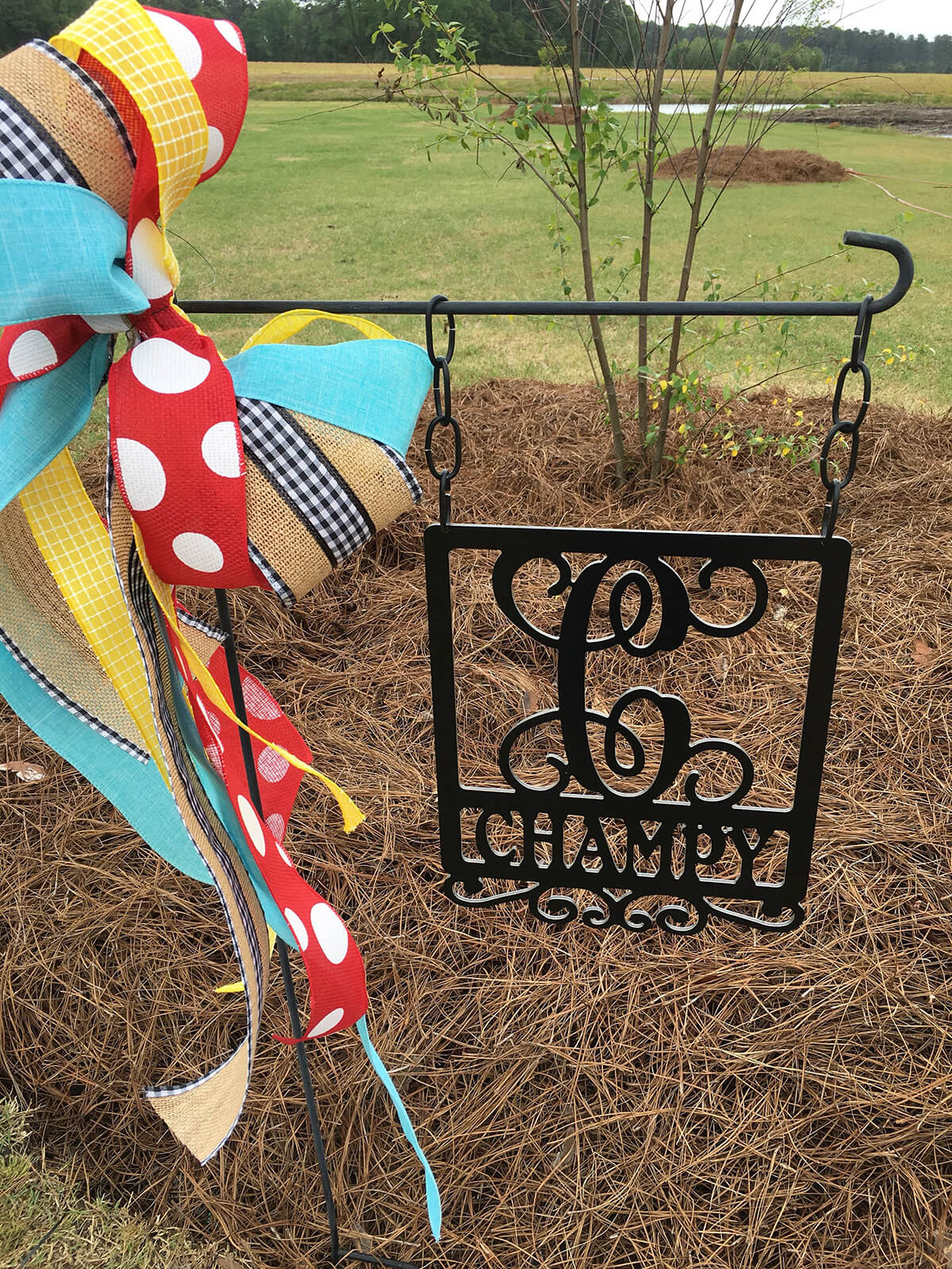 Monogram Garden Flag Sign