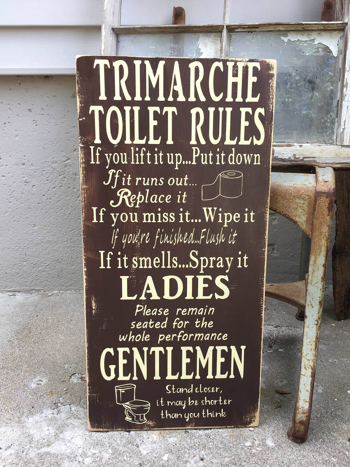 Funny Personalized Toilet Rules Sign