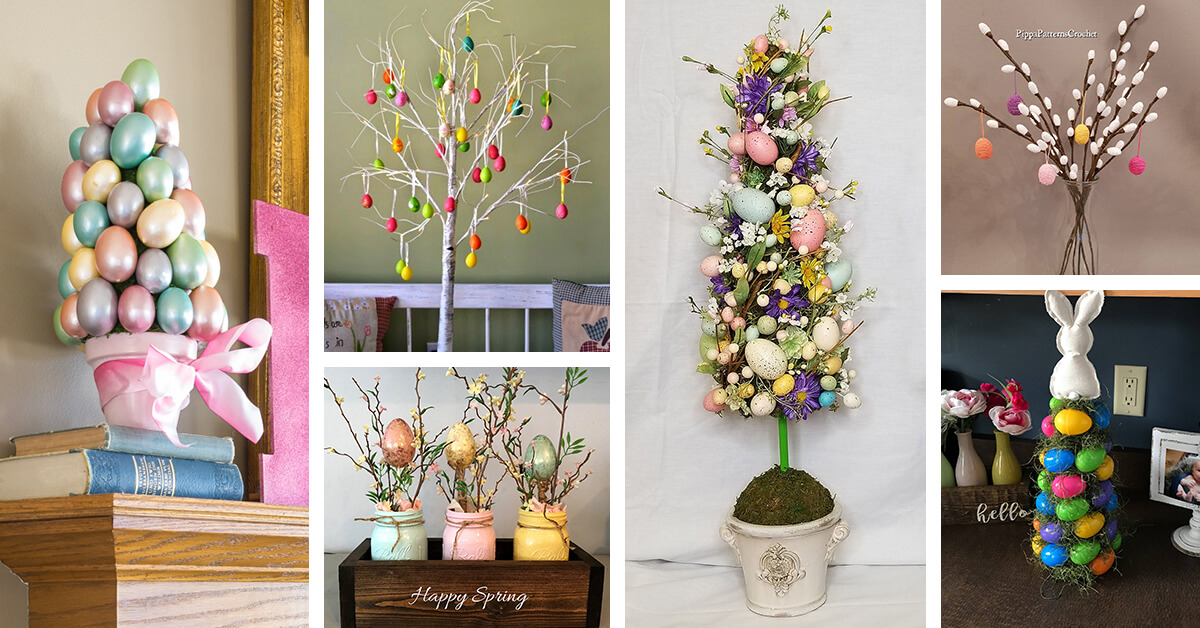 18 Best Easter Egg Tree Ideas And Designs For 2021