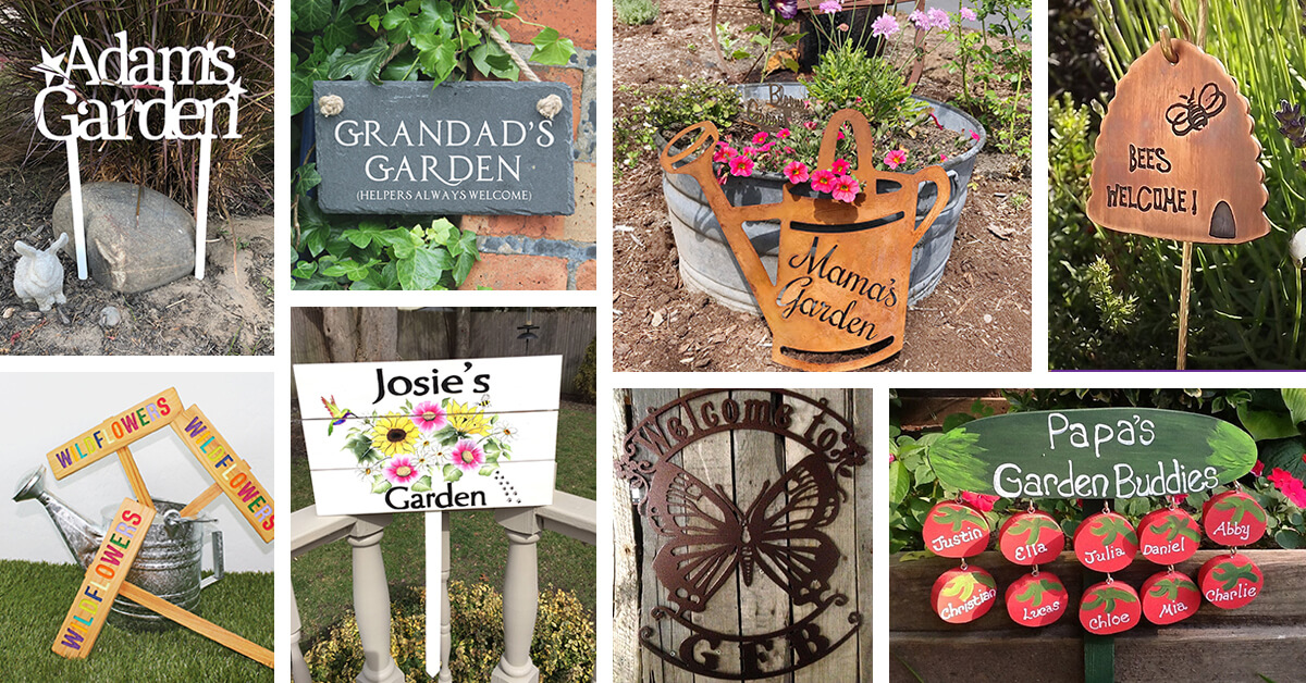 30 Best Garden Sign Ideas And Designs For 2020