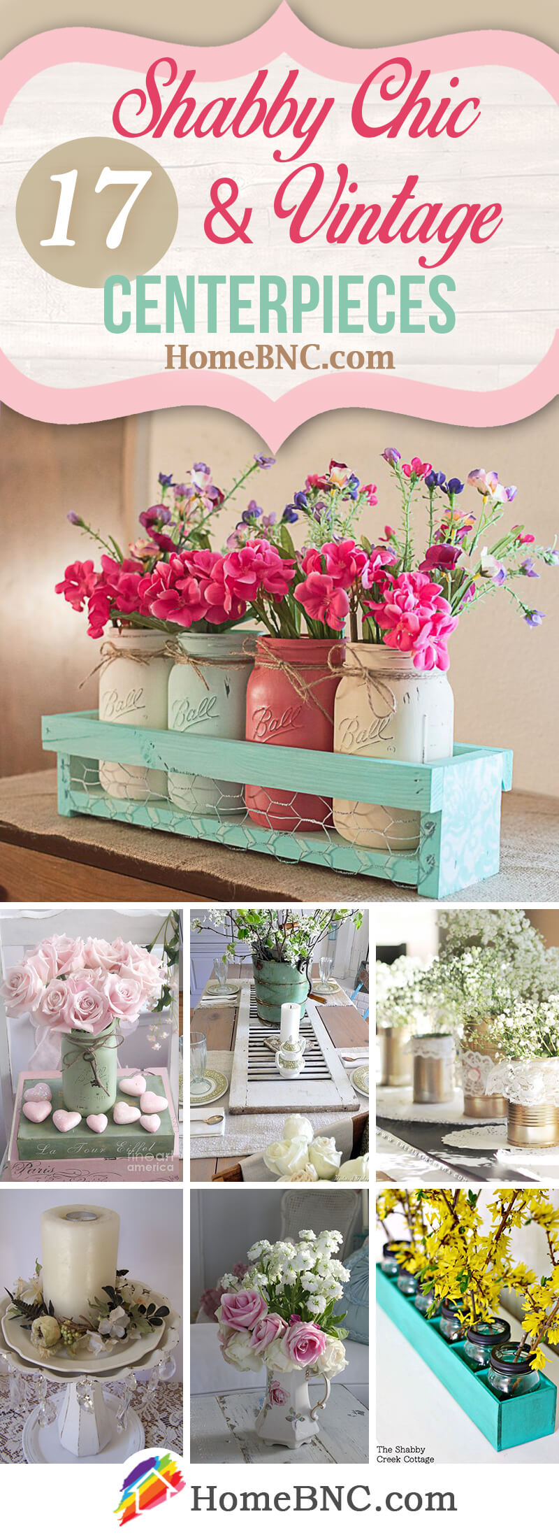 Shabby Chic Centerpiece Ideas