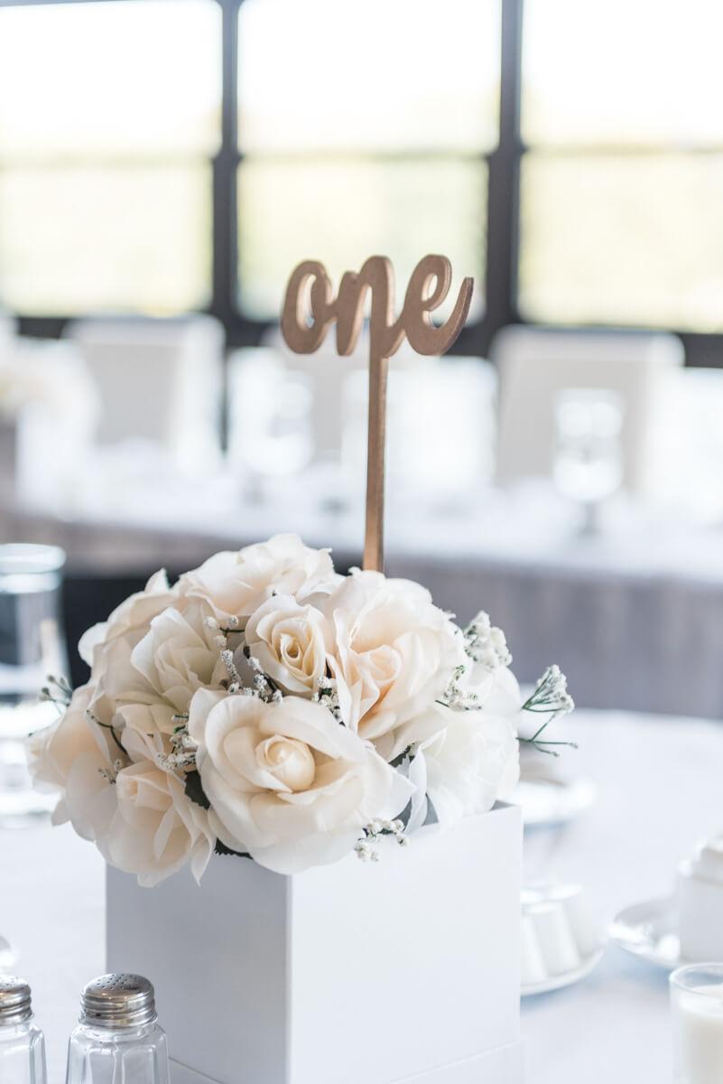 Elegant Wedding Flowerbox Centerpiece