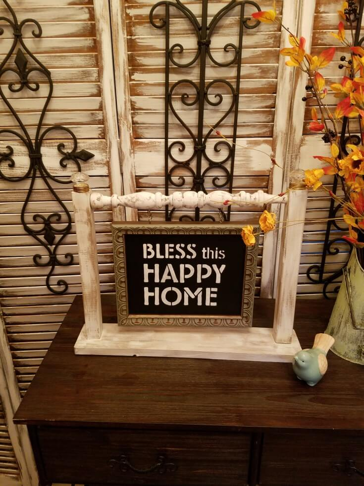 Repurposed Shabby Chic Chair Sign