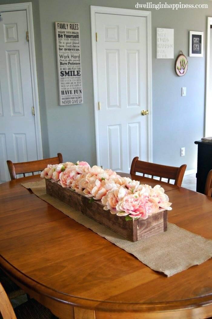 Multi Shades of Pink Rustic Flowerbox
