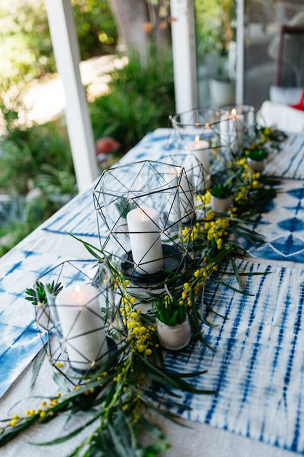 Sunny and Geometric Outdoor Centerpiece