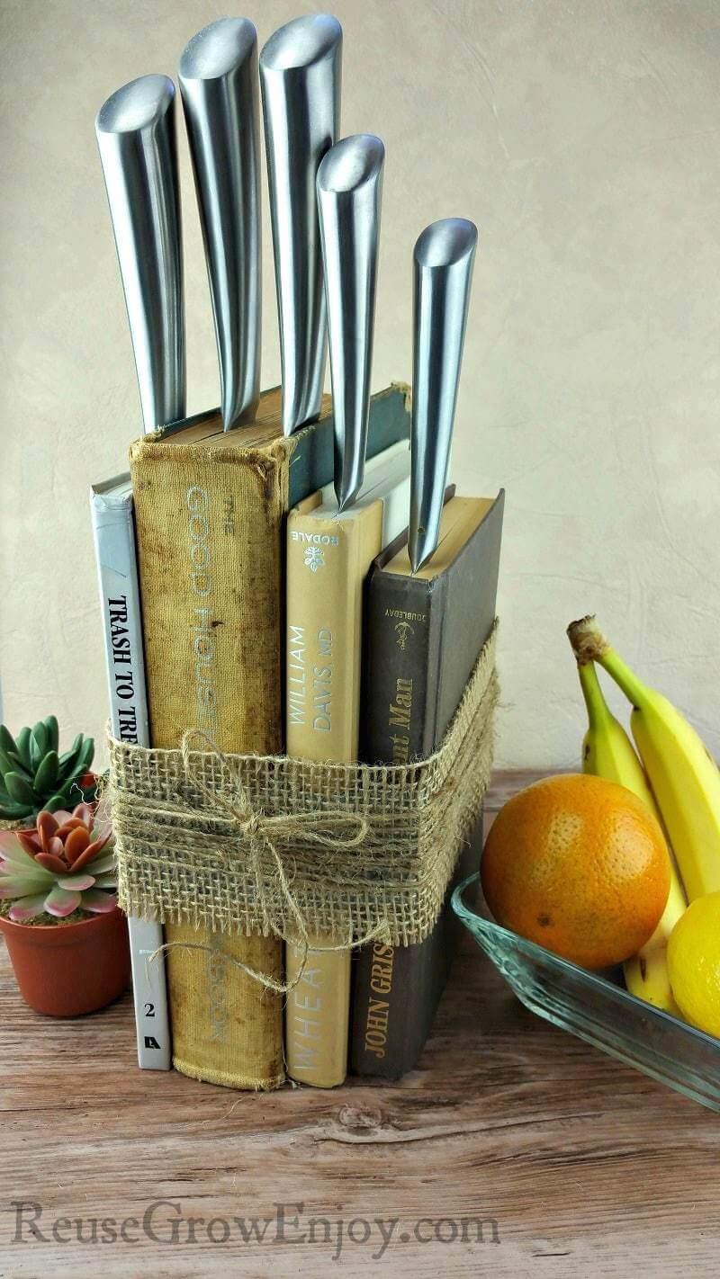 The Bookworm's Universal Knife Block