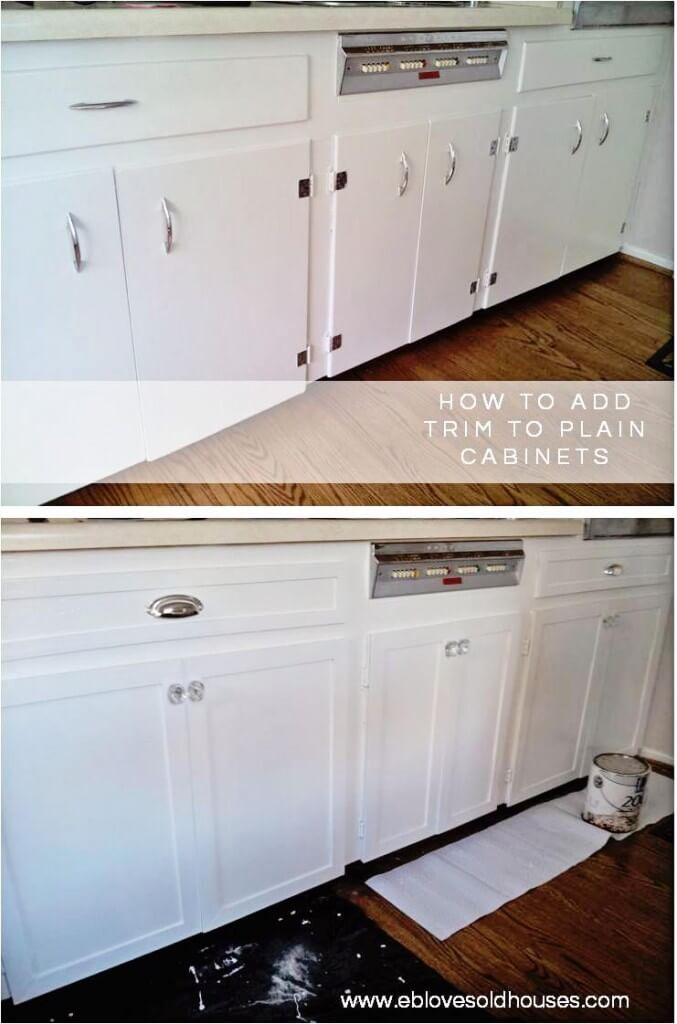 Take Your Cabinets from Drab to Fab with Trim