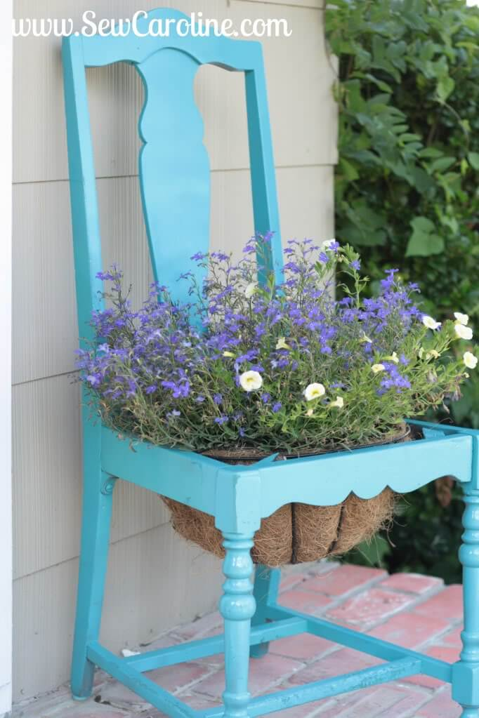 Planter Basket in the Seat of Your Chair