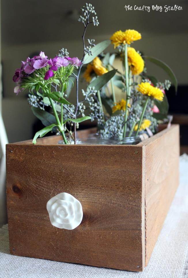 DIY Flower Drawer Flowerbox Centerpiece