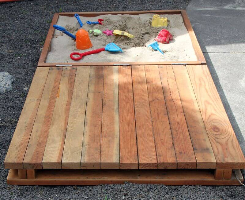Multi-Purpose Half Deck, Half Sand Box Play Area