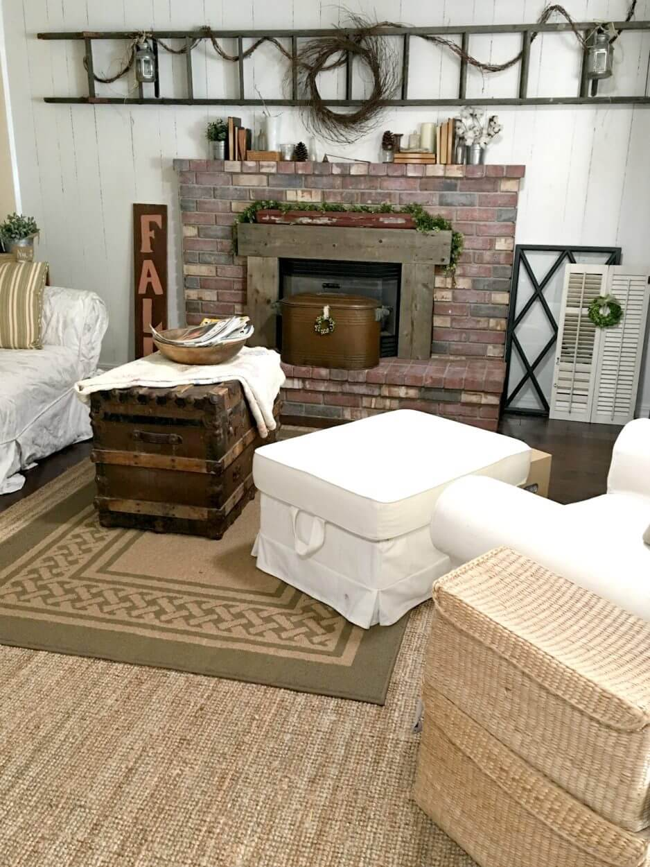 Whitewash a Brick Fireplace for a Simple Makeover