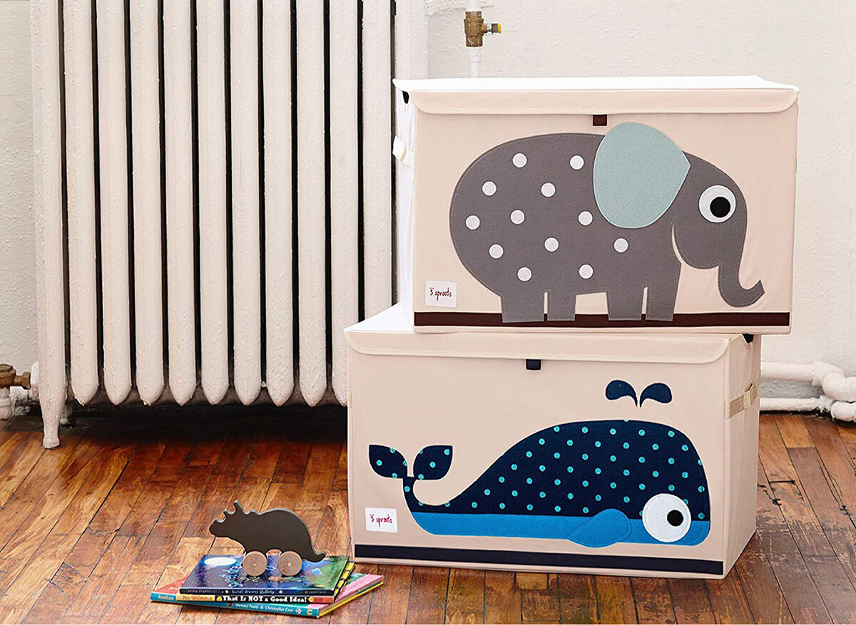 Cute Animal Canvas Toy Box
