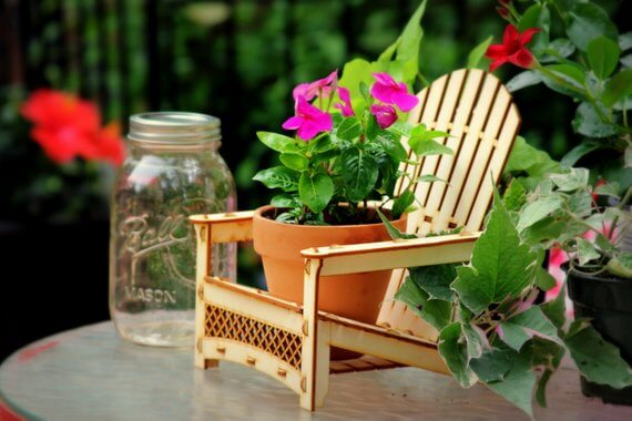 Adirondack Chair Planter Table Centerpiece