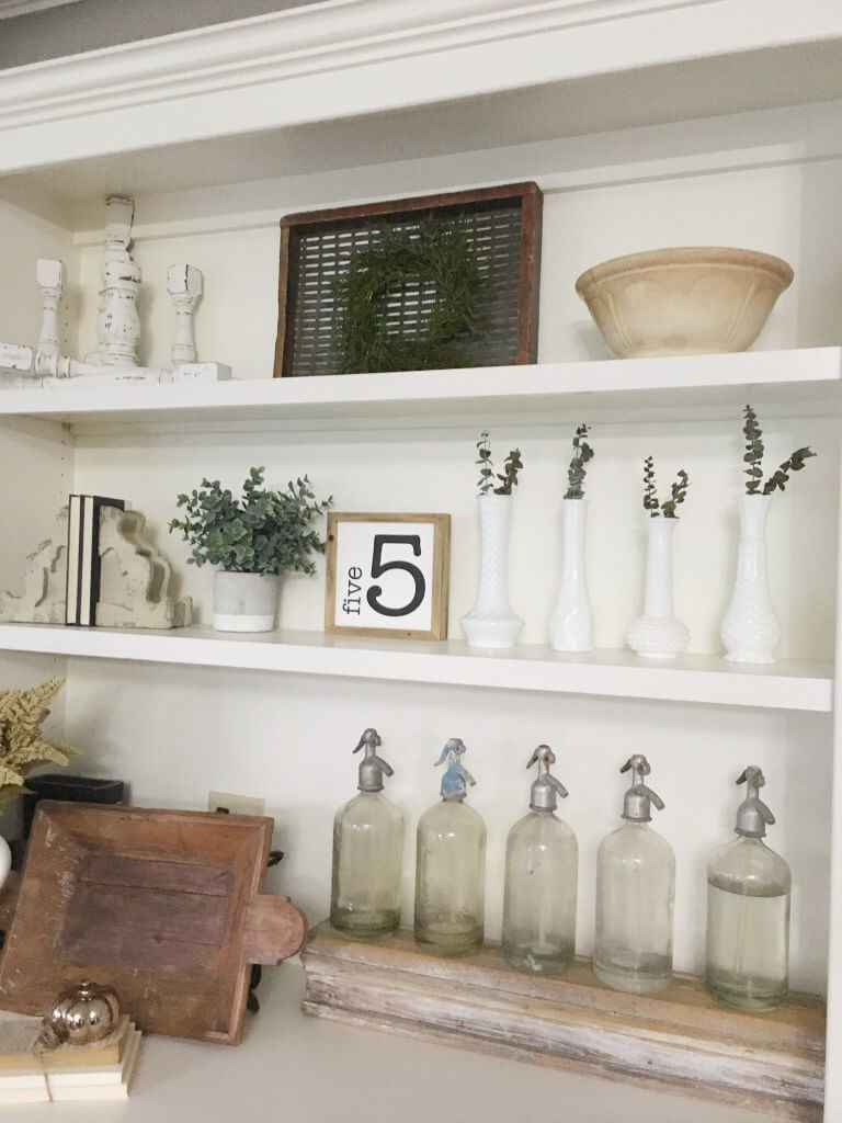 Multi-Shelfed Farmhouse Display
