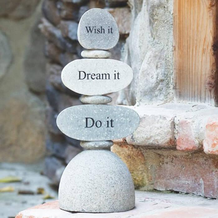 Inspirational Balanced Zen Garden Stones