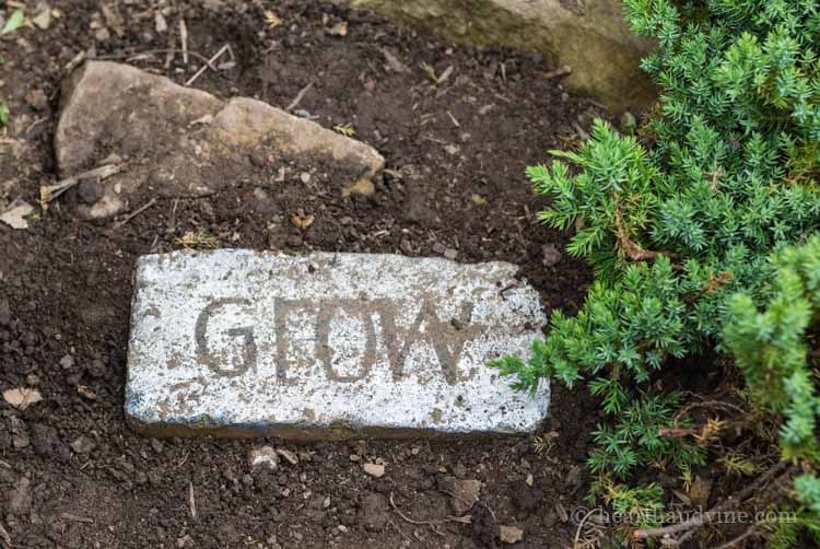 Lovely Brick Garden Path Word Art