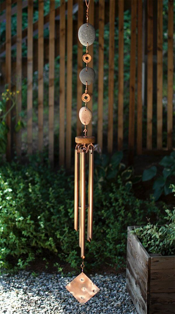 Exquisite Stone and Copper Wind Chime