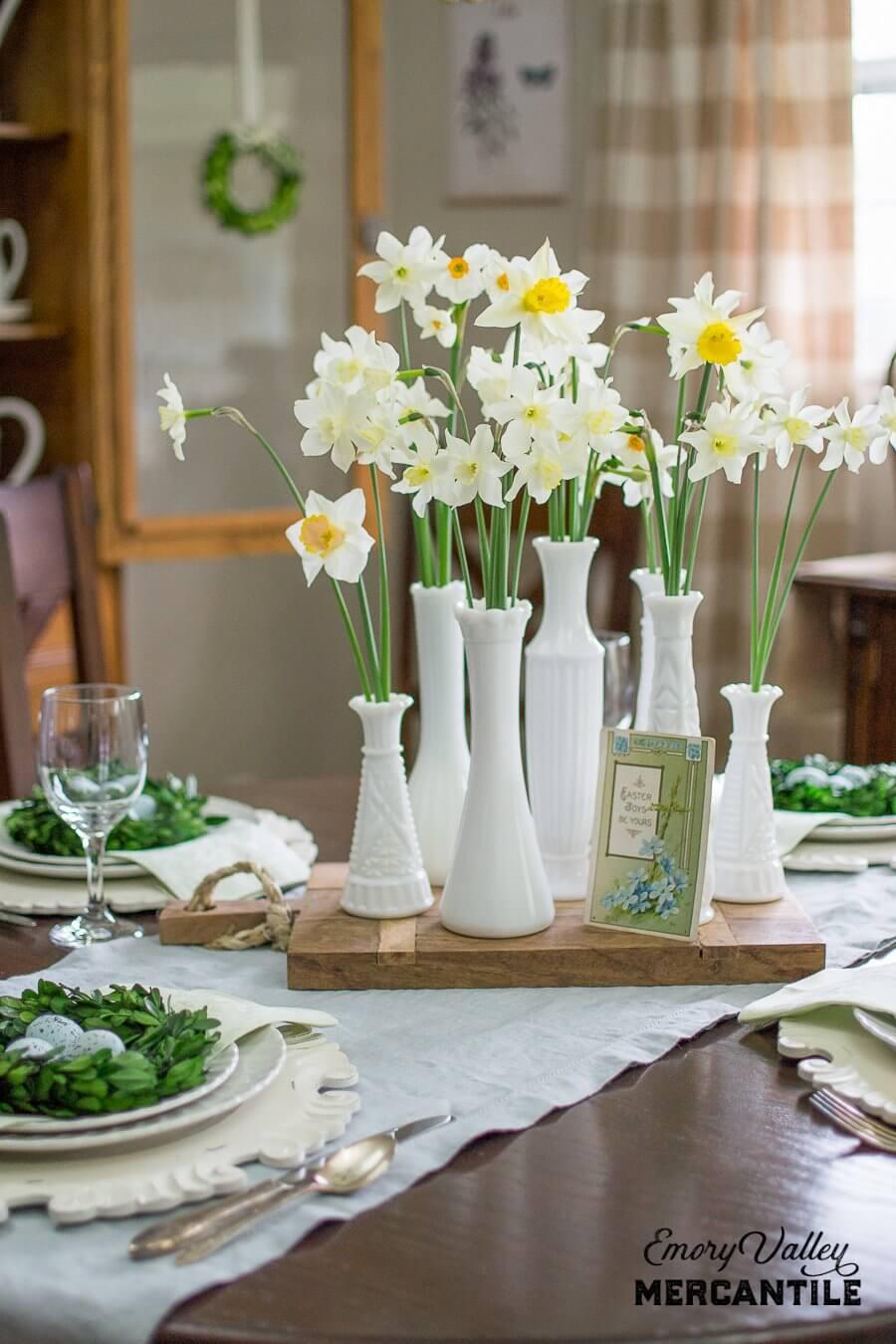 Fresh and Friendly Daffodil Centerpiece