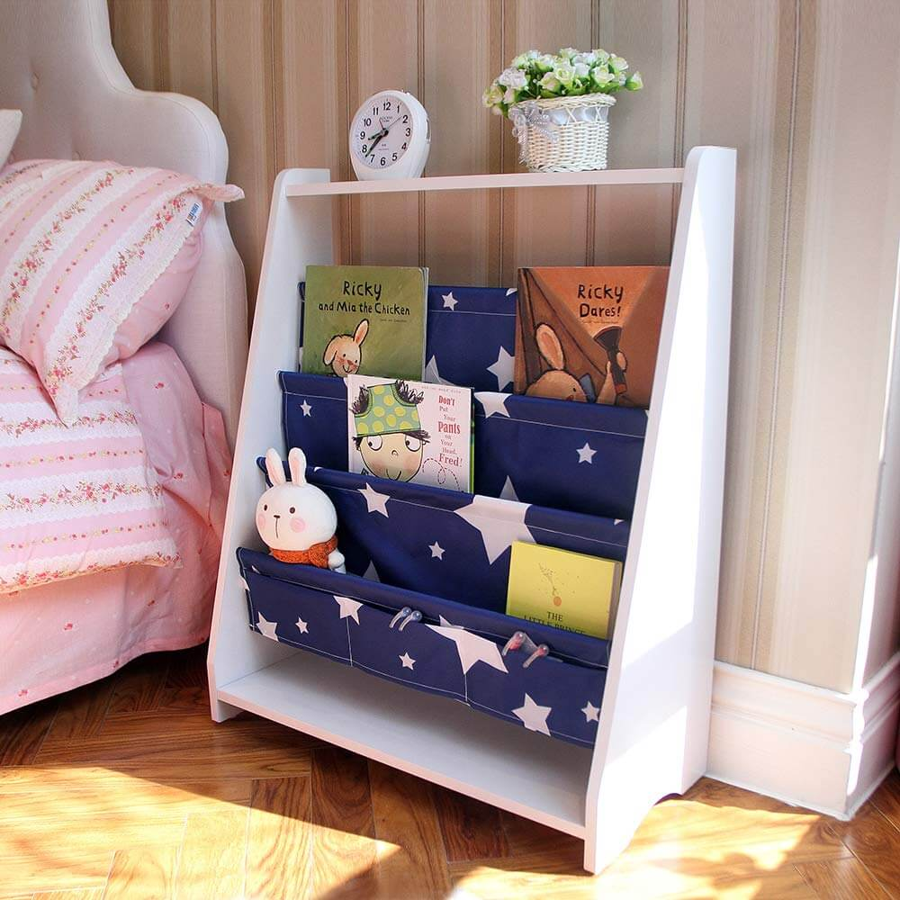 Starry Sky Bookshelf and Toy Organizer