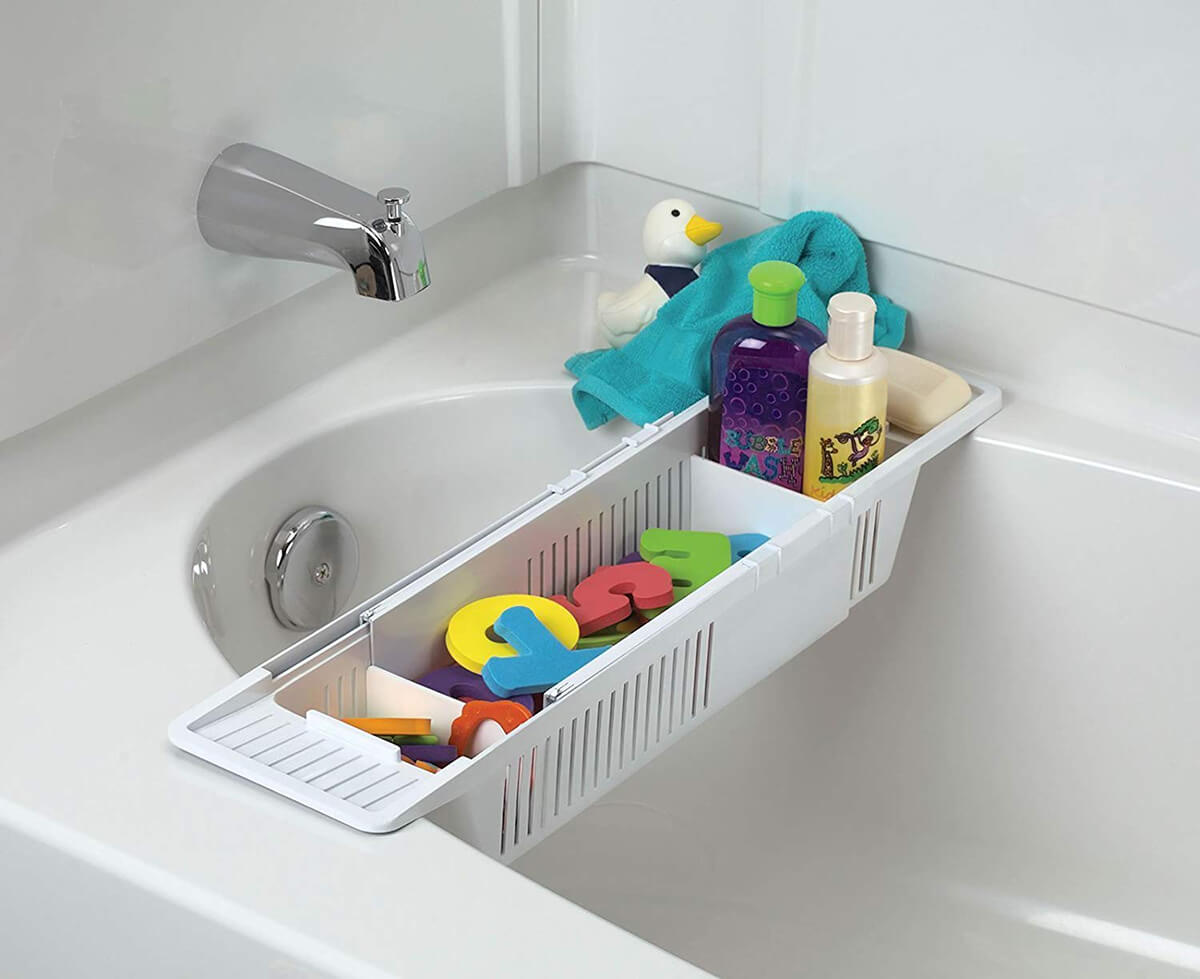 Cross-Tub Bath Bin Toy Storage