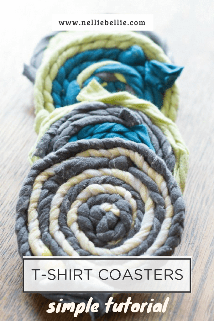 Easy Peasy Braided T-Shirt Drink Coasters