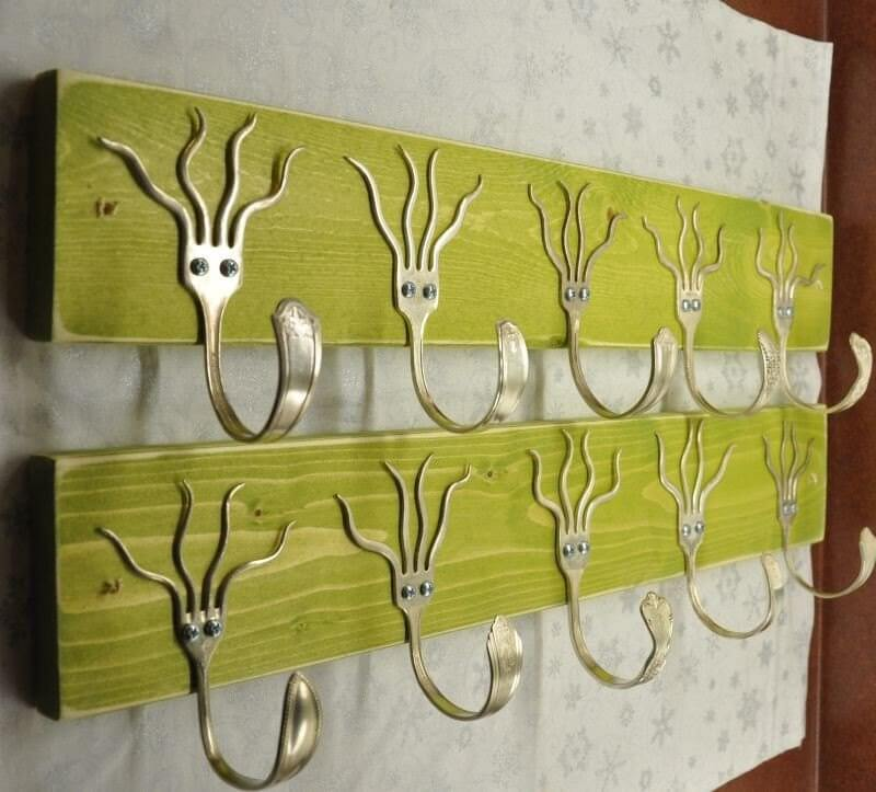 Bright and Fun Antique Fork Hanging Hooks