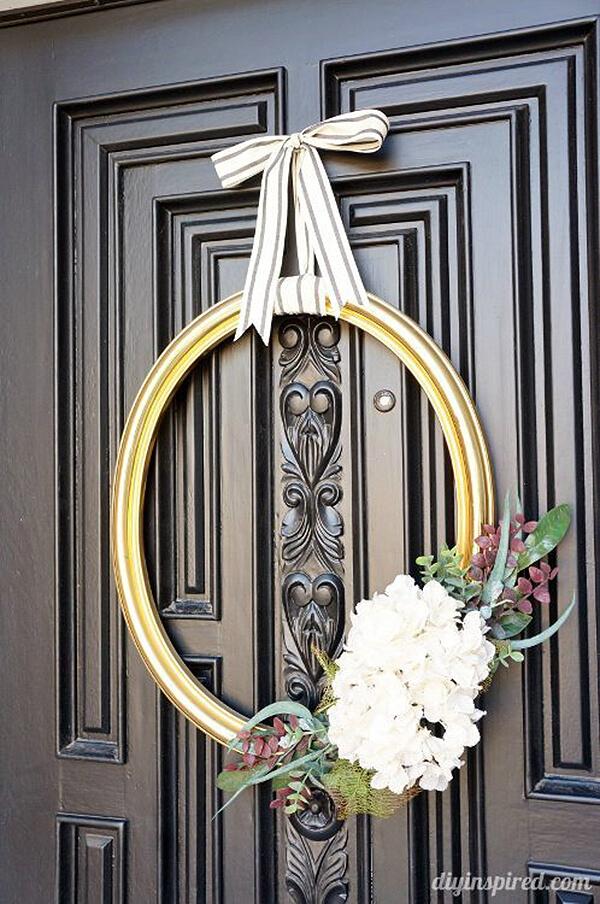 Beautiful Antique Mirror Frame Wreath