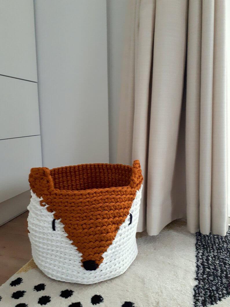 Loveable Woodland Fox Basket