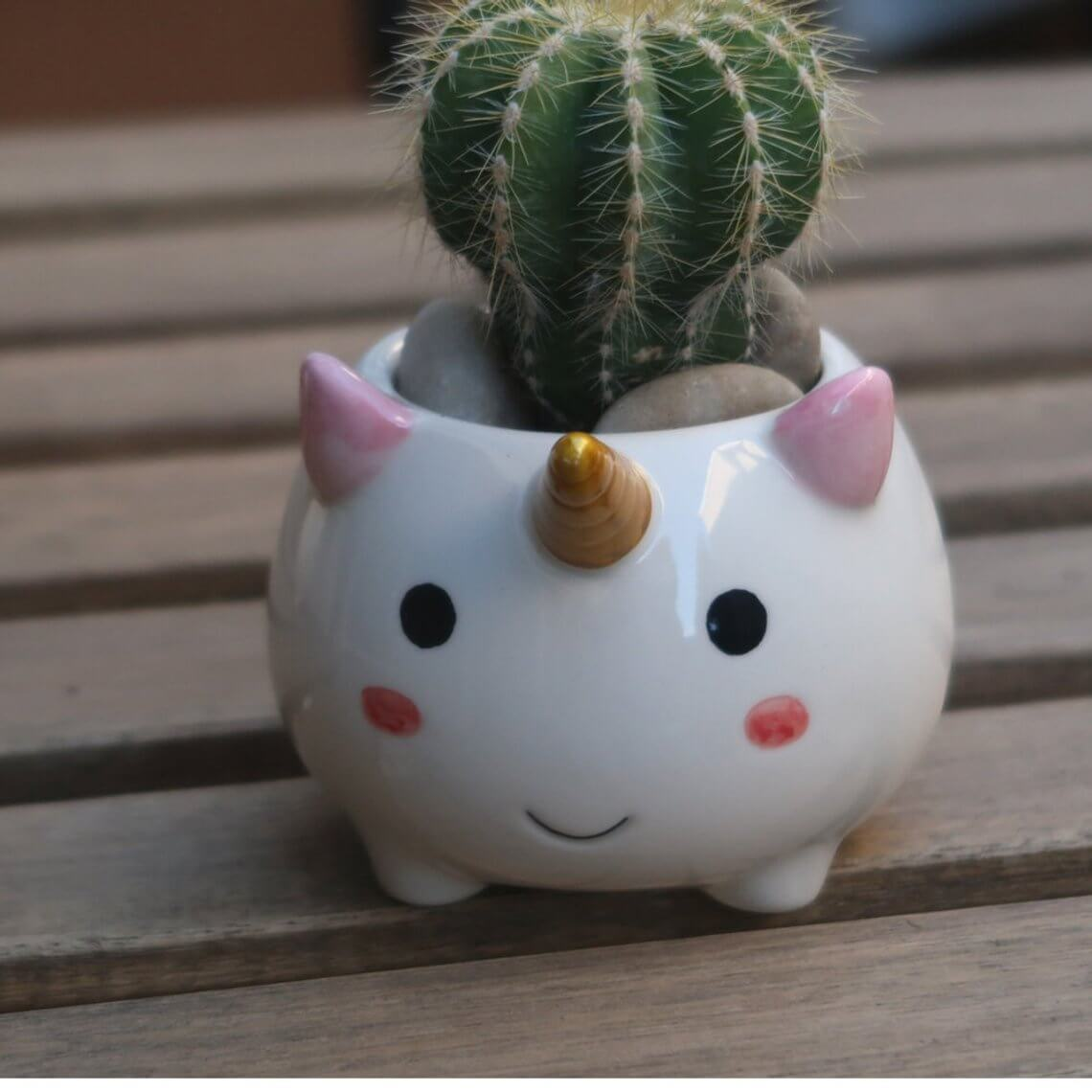 Ceramic Unicorn Accessory Cup