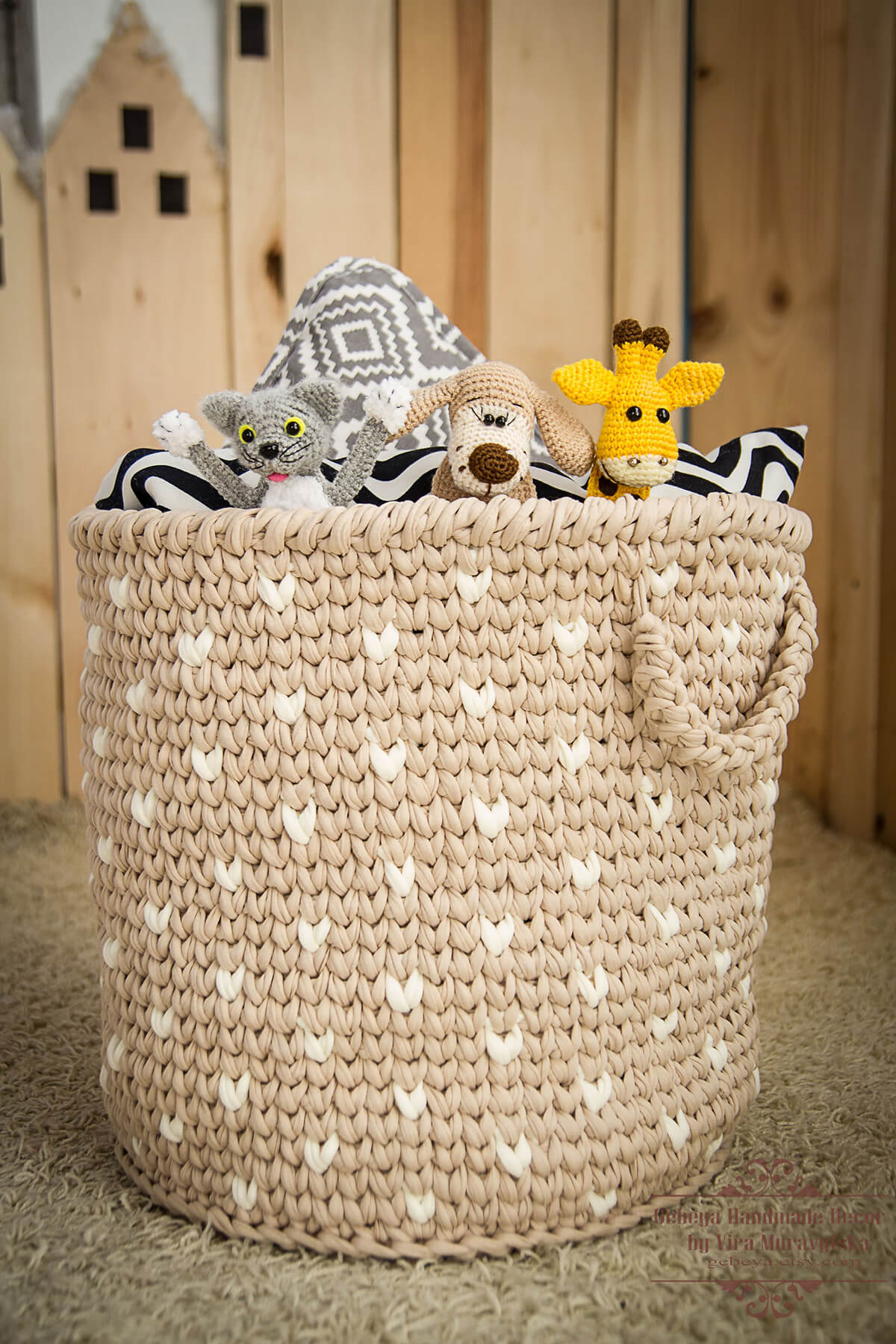 Stunning Crochet Basket Toy Storage