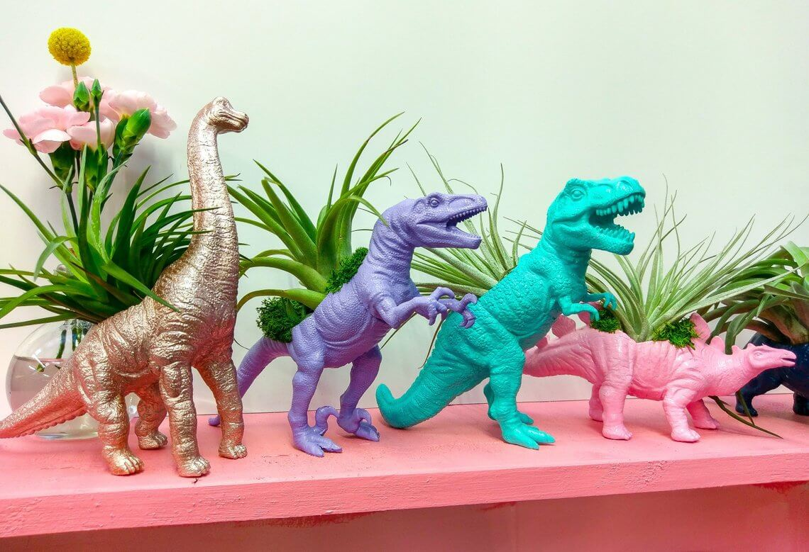Totally Rad Bold-Colored Dinos