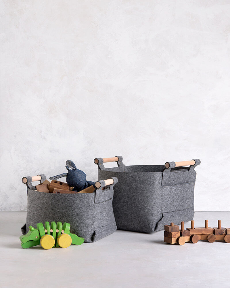 Fabulous Felt Baskets Toy Storage