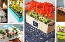 DIY Flowerbox Centerpieces
