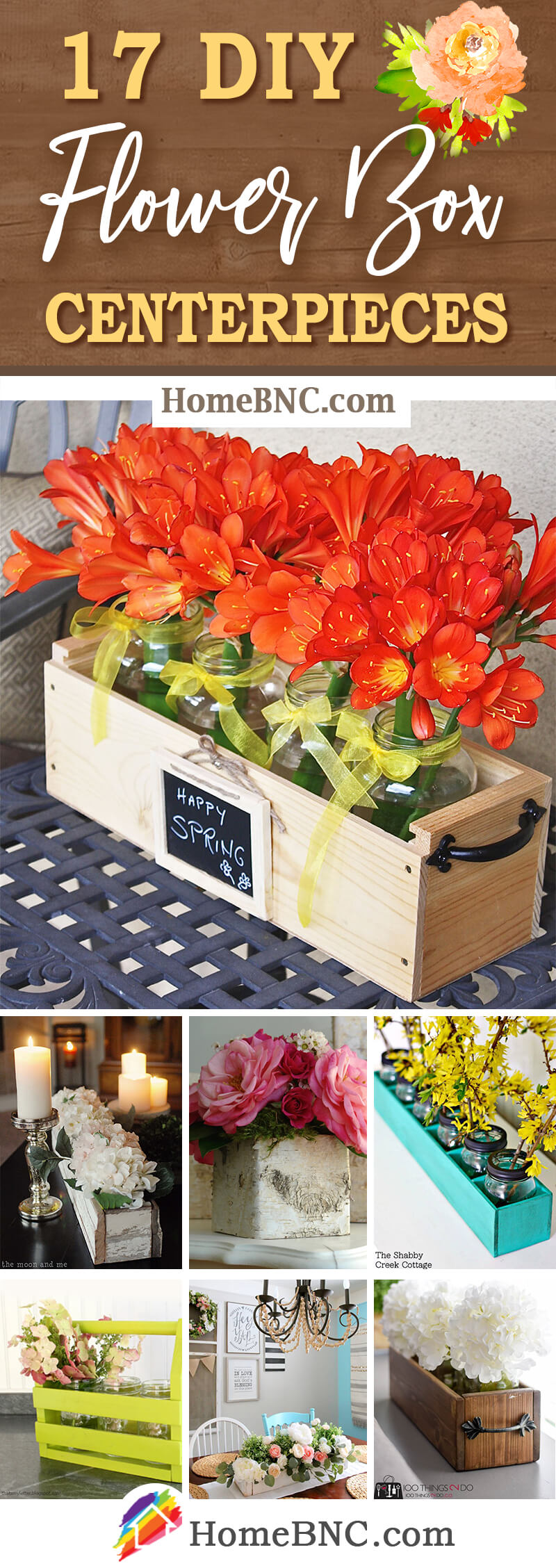 DIY Flowerbox Centerpiece Ideas